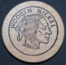1976 Bicentennial Somerset Credit Union Indian Head Wooden Nickel - $2.99