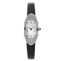 Vintage Gianello with Diamonds and Sapphires on Bezel Platinum Ladies Watch - $1,386.00