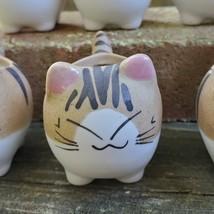 "Ceramic Cat Planters, set of 6, 2.5"" Animal Pots, Emotion Face Kitten Kitty image 5"