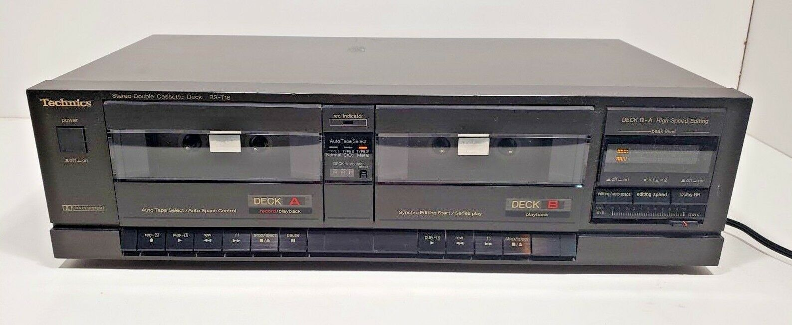 Technics Stereo Double Cassette Deck RS-T18...Tested