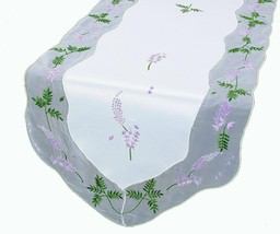 Xia Home Fashions Lavender Embroidered Table Runner, 15-Inch by 72-Inch - $35.08