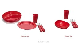 Maddak Ableware Redware Dining Set - Basic or Deluxe Option - #7453800X - $39.99+