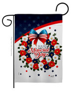 Memorial Day Wreath - Impressions Decorative Garden Flag G135496-BO - $19.97