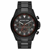 Michael Kors Gage Men's Black Stainless Steel Watch MK8332 Brand New - $199.88