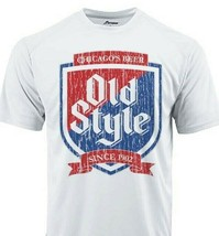 Old Style Dri Fit graphic T-shirt moisture wicking beer beach sun SPF 50 tee image 1