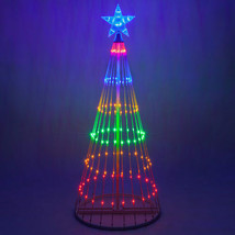 LED Outdoor Christmas Light Show Motion Tree Multi Color 3D Display Deco... - $147.51+