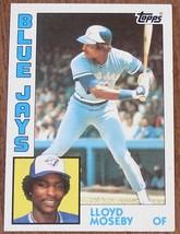 Lloyd Moseby, Blue Jays  1984  #92 Topps  Baseball Card GDC - GREAT CARD - $2.96