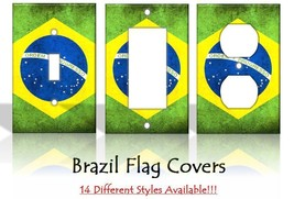 Brazil Flag Brazilian Country Light Switch Covers Home Decor Outlet - $6.92+
