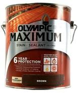 1 Gal.Dented Can Olympic Maximum Stain & Sealant In 1 Semi-Transparent B... - $32.99