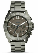 NWT FOSSIL PRIVATEER SPORT SMOKE CHRONOGRAPH STAINLESS STEEL 45mm WATCH ... - $99.88