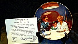 """1984 """"The Birthday Wish"""" by Norman Rockwell Plate with Box ( Knowles ) AA20-CP21 image 2"""