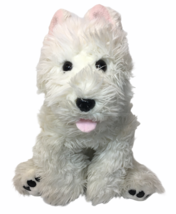 White West Highland Terrier Westie Dog Build A Bear Stuffed Animal & Red Collar - $39.00