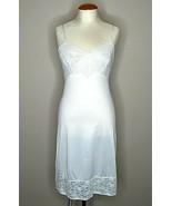 Vintage Vanity Fair Lingerie Dress Slip Sz 32 Off White Lace Knee Length... - $29.69