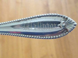 1904 WILLIAM Towle Sterling Silver Souvenir Spoon Art Deco Cardova Pattern - $39.59
