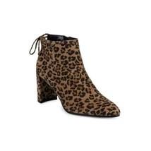 Stuart Weitzman Women Ankle Booties Lofty Size US 6.5M Cheetah Print Lea... - $148.50