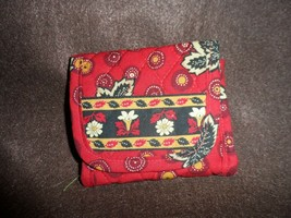 Vera Bradley trifold wallet in red leaf coin pattern - $13.50