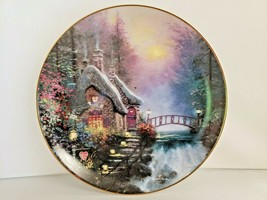 Thomas Kinkade Falbrooke Cottage 1st Enchanted Collector Plate Edwin M. Knowles - $18.70