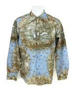 Vintage 1970s Chemise Et Cie Awakening Of Scheherazade Disco Shirt Size 42 - $51.38