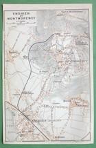 1907 MAP ORIGINAL Baedeker - PARIS Enghien Montmorency France - $5.07