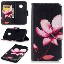 XYX Wallet Phone Case for Moto G5 Plus,[Lotus][Kickstand] Painted Design... - $9.88