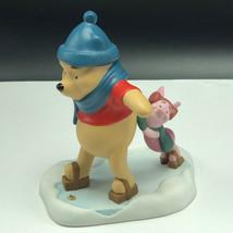 Winnie Pooh Friends Figurine Walt Disney Porcelain Enesco Piglet Always Count Me - $59.35