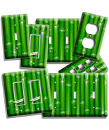 GREEN LUCKY BAMBOO LIGHTSWITCH OUTLET WALL PLATE ROOM HOME FENG SHUI HOUSE DECOR - $10.22 - $20.45