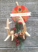 Deer Antler Christmas Tree Ornament Primitive Rustic Cabin Lodge - $14.00