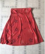 LuLaRoe orange Blue Floral Skirt Sz XL Flare A-line Full Circle Modest no Slit - $22.25