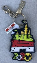 Disney Parks 2020 Dated Castle Faux Leather Key Ring Keychain - New - $10.95