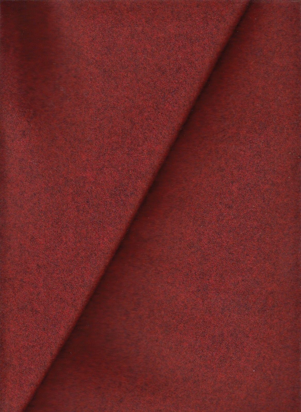 8.125 yds Mid Century Modern Wool Upholstery Fabric Red Melange PA