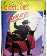 Kids Costumes McCalls 8872 Zorror Boys Children Cape Mask Pants Shirt Si... - $12.00