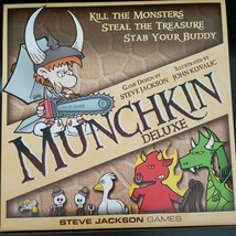 Munchkin Deluxe Board Card Strategy Game From Steve Jackson 3-6 Players - $29.69