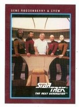Star Trek The Next Generation card #308 Gene Roddenberry and Next Genera... - $5.00