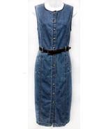 Vintage Gloria Vanderbilt (Sz PL) Blue Denim Jean Jumper Petite Womens D... - $22.80