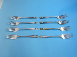 "Eternally Yours (8) Antique Silver Plate Salad Forks 6 3/4"" by 1847 Rogers Int'l - $67.15"