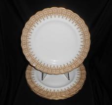"""Antique Plates Dessert Salad Royal Worcester Gold Lace Set Of 4 1899-1901 8"""" - $57.00"""