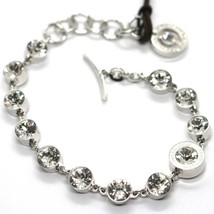 REBECCA BRONZE BRACELET, TENNIS WHITE CRYSTALS 7 MM, BPBBBB33 MADE IN ITALY image 1