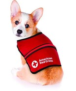 Penn Plax Red Cross LED Light Up Safety Visibility Vest for Dogs (Small) - £23.55 GBP