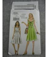 Misses Mid knee length Summer Dress  Vogue V8380 Size 4-10 Very Easy V... - $18.00