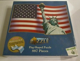 Wrebbit Perfalock Usa Flag Shaped Puzzle 887pcs - $28.69