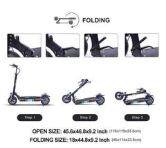 Folding Electric Scooter TNE Q4 V3 Plus 1300w 52v 18ah Lithium Battery Hub Motor image 10