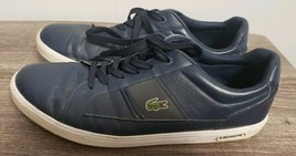 Lacoste Men's Marcel Riberac LCR3 SPM Leather Shoes Trainers - Navy Size, 10.5 - $16.92