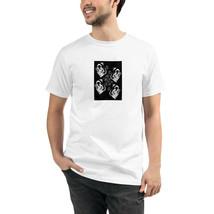 Skull White Unisex Organic T-Shirt Eco Friendly Sustainable Men Women - $31.68+