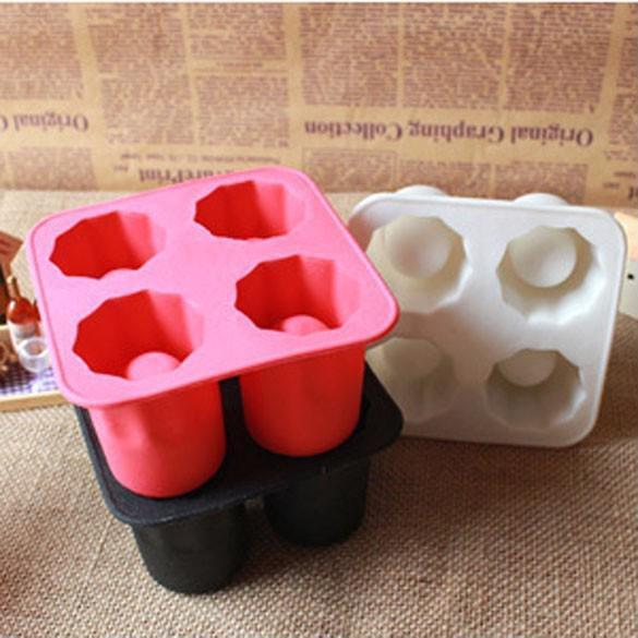 Silicone Ice Tray Mold Cool Party Bar Glass Shape Ice Cube Maker Accessories New