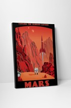 "Crimson Canyons Of Mars by Steve Thomas Gallery Wrapped Canvas 16""x20"" - $44.50"