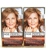 2 L'Oreal Age Perfect Excellence 6 1/2G Lightest Soft Golden Brown Perma... - $29.99