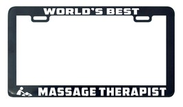 World's Greatest massage therapist license plate frame holder tag - $5.99