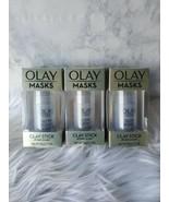 X3 Olay Masks Glow Boost Clay Stick White Charcoal 1.7 oz each Pore Detox - $16.62