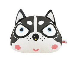PANDA SUPERSTORE Cute Cartoon Lovely Husky Series Car Headrest/Car Neck Pillow,