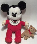 Mickey Mouse -- Disney Plush  -- Baby Mickey Mouse Happy Holidays - $19.79
